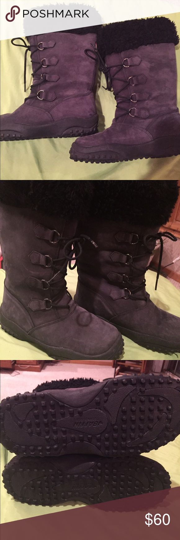 Euc! Woman's Baffin size 8 snow boots EUC! Worn 3 times. Woman's black Baffin snow boots. Size 8, with removable liner. Stylish and warm! Baffin Shoes Winter & Rain Boots
