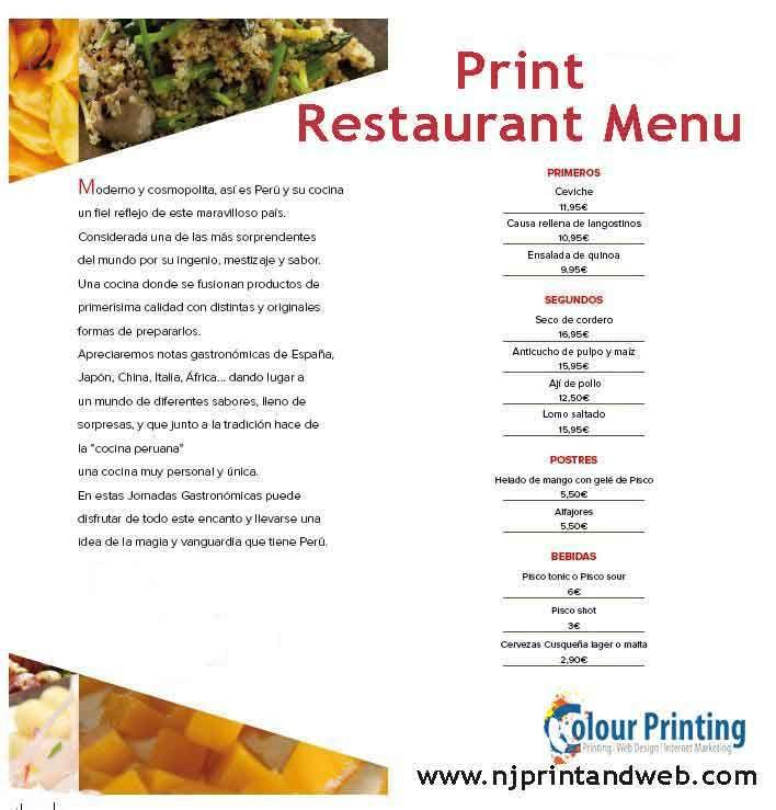 143 best Print Restaurant Menu images on Pinterest | Menu printing ...