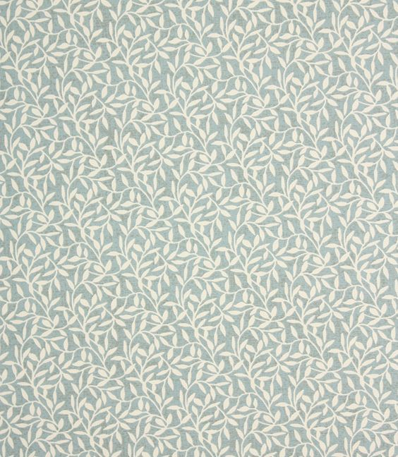 Morris fabric is a stylish, classic patterned fabric with a subtle leaf design, very similar to a William Morris fabric. Printed onto 100% cotton, it is a great curtain fabric and is also suitable for roman blinds, roller blinds and cushions. Buy online or from one of our large curtain fabric shops in Oxfordshire and Gloucestershire.