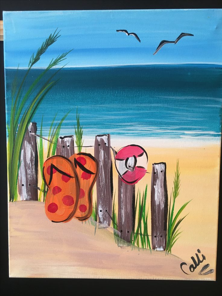 335 Best Beach Summer Canvas Painting Images On