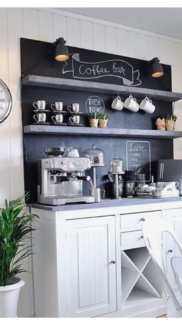 27 best coffee bar images on pinterest coffee bar for Mini coffee bar