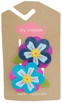 Lily and Momo Hawaiian Flower hair clips.