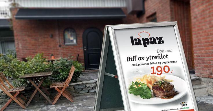 Street sign poster design for a beef restaurant