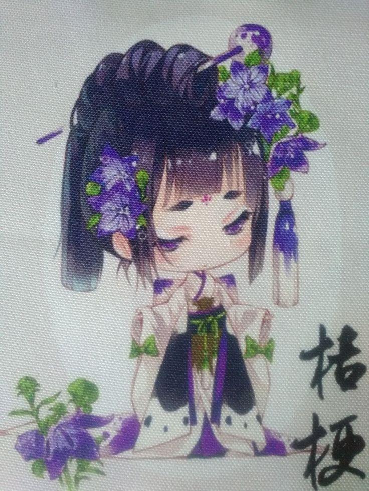 Coupon Patchwork 18*18cm - Filles japonaises kimono : Tissus pour Patchwork par s-mode