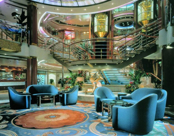 Main lobby inside sea princess cruise ship.