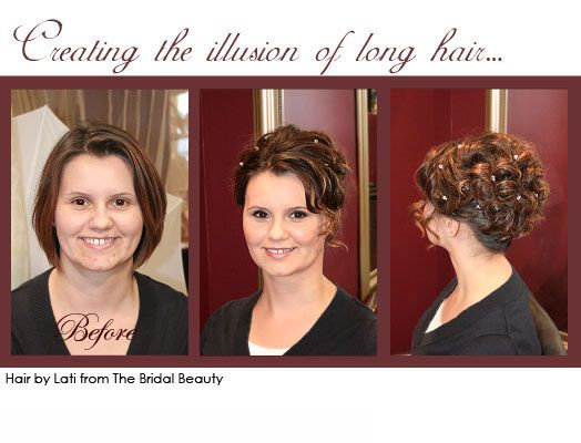 Bridesmaid hair idea for short hair