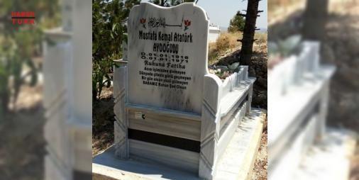 """Jandarma mezar taşındaki o ismi sildi: Çorum'da """"Mustafa Kemal Atatürk Aydoğudu"""" yazan mezar taşının 46 yıl önce vefat eden 5 çocuk babası Mustafa Kemal Aydoğudu'ya ait olduğu belirlendi, jandarma ekipleri mezar taşına müdahale etti"""