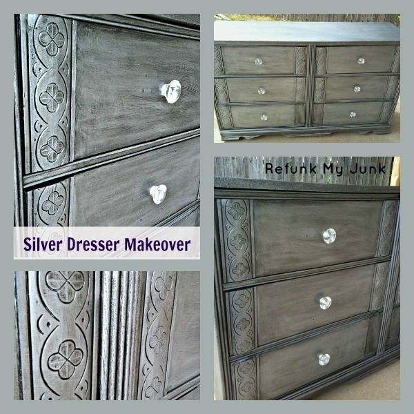 one coat of Seattle Mist and used the Martha Stewart Black Coffee Glaze over the top.   added some silver pigments to CeCe's Clear Wax just to give it a luxurious, metallic, silver finish.