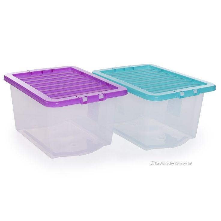 (Pack of 5) 30 Litre Uni Plastic Storage Box & Lid