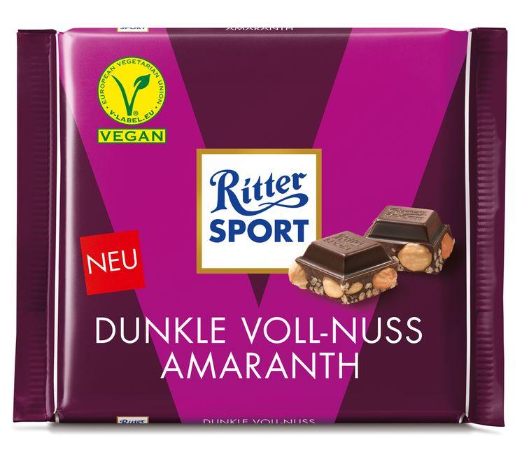RITTER SPORT Vegan: Dunkle Voll-Nuss Amaranth – vegane Schokolade