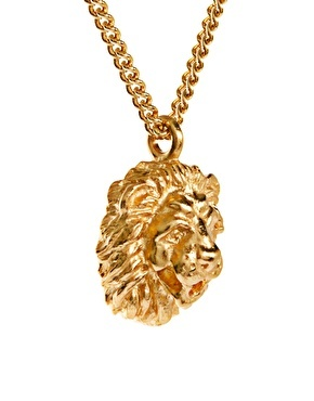 Bill Skinner Lion Pendant With Crystal Back Detail