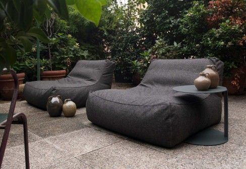 Outdoor bean bag chairs.