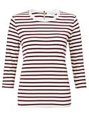 Collection WEEKEND by John Lewis Breton Stripe Crew Neck Top, Burgundy