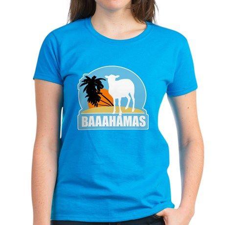 Baaahamas T Shirt  #animals #sheep #bahamas #puns #funny #humor #beach #tropical #island #jokes #shirts #cute #women