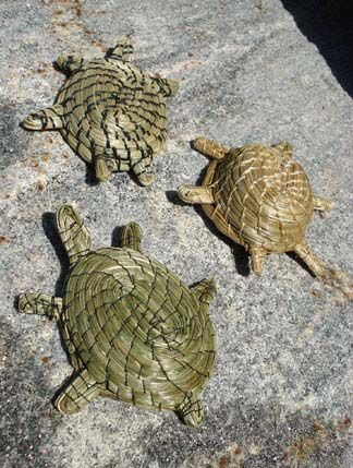 Sweetgrass turtles from Manitoulin Island.