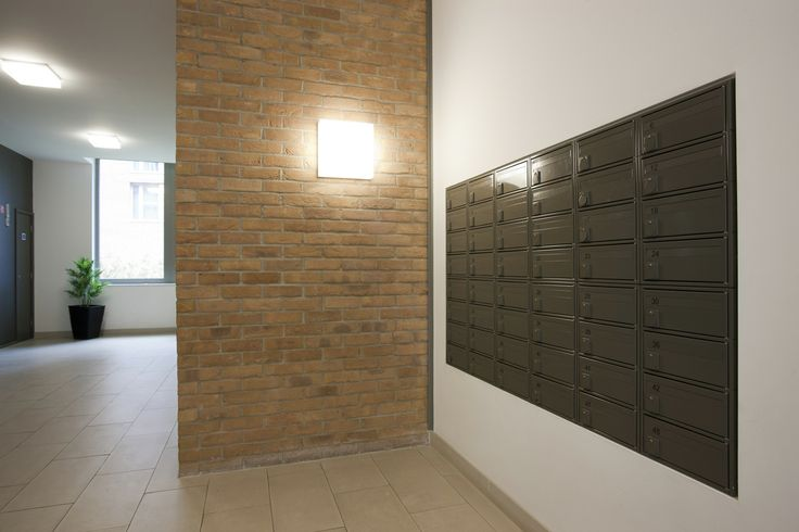 A bank of fire rated mailboxes fitted in The Waterside Project.