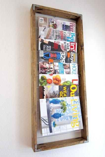 DIY Home Decor: DIY Magazine Rack IT JUST LOOKS BETTER THIS WAY THAN STACK ON THE TABLE, ISN'T IT? LIKE THE FRAME★