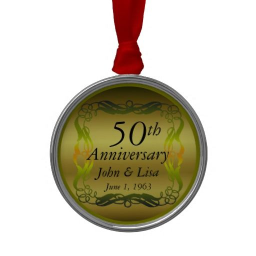 20 best 50th wedding anniversary ornament images on for Engagement christmas tree ornaments