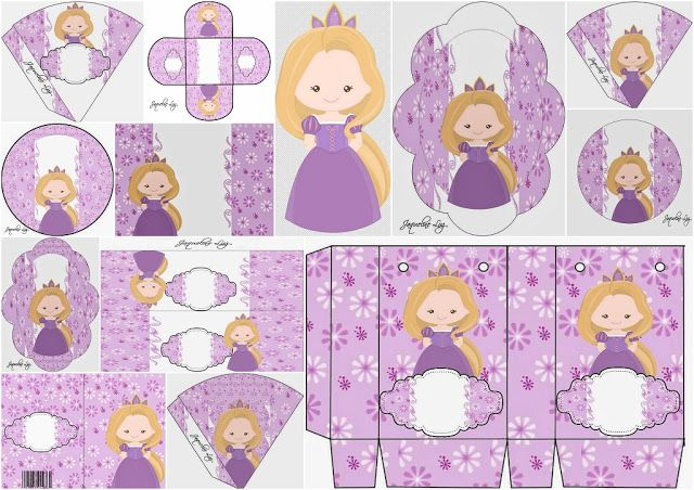Rapunzel Baby: Free Printable Kit.
