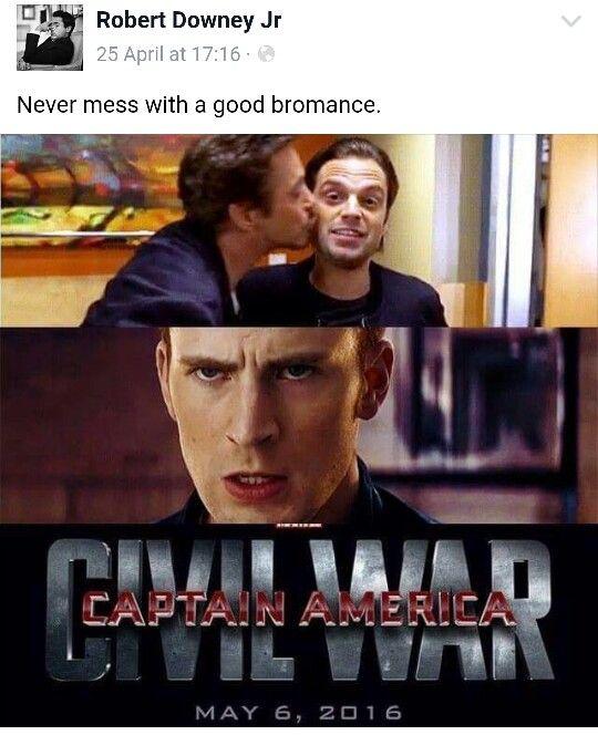 Poor steve. Tony has a new friend. Captain America, Civil war, Marvel