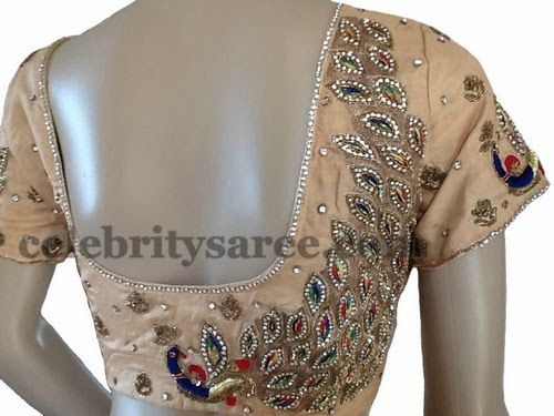 Peacocks Embellished Saree Blouses