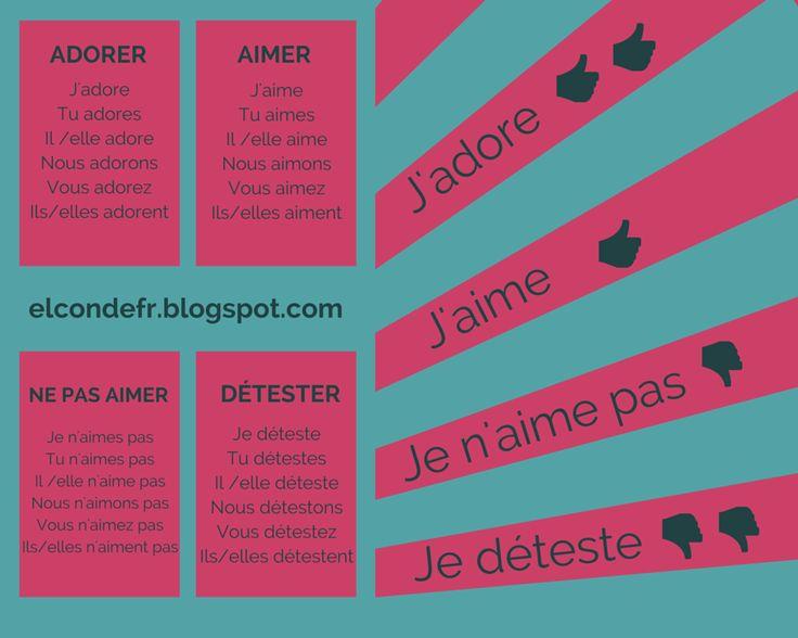 Exprimer ses goûts en français