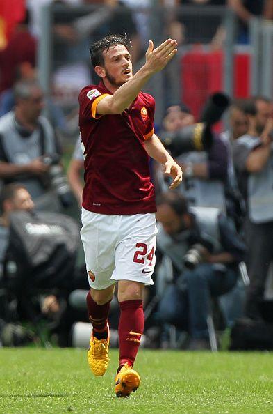Alessandro Florenzi, a favor de la AS Roma.