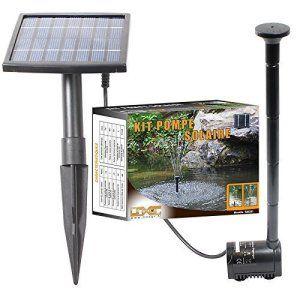 Linxor France ® Pompe à eau solaire pour fontaine, bassin ou jardin… avec câble de 5m – Norme CE