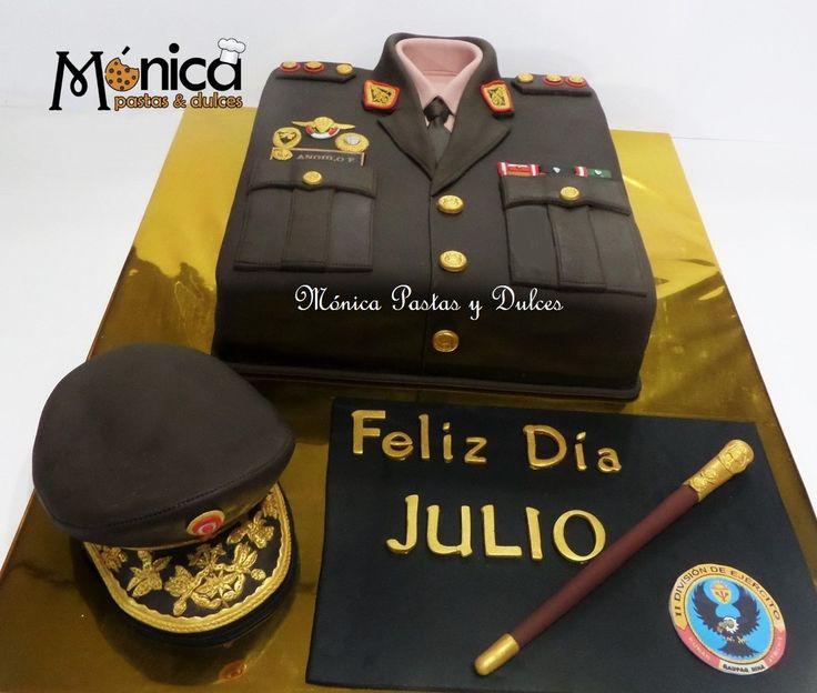 TORTA MILITAR PARA GENERAL DEL EJERCITO de Monica Pastas y Dulces