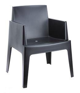 Box stoel zwart, de trend van dit moment ! Kan ook als loungeset