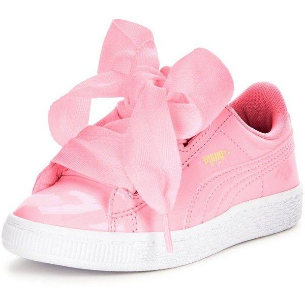 Patent shoes, Puma basket heart