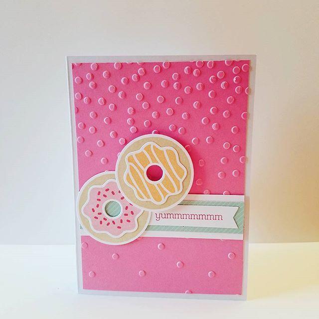 Yummmmmm Handmade Card Close To My Heart Products used Z3300 Sugar Rush Thin Cuts Bundle Z3118 Confetti Embossing Folder  #ctmh #ctmhconsultant