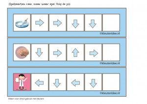 'Raar, maar waar', richtingspel voor kleuters met vier pijlen, kleuteridee.nl, kinderboekenweek 2015, free printable