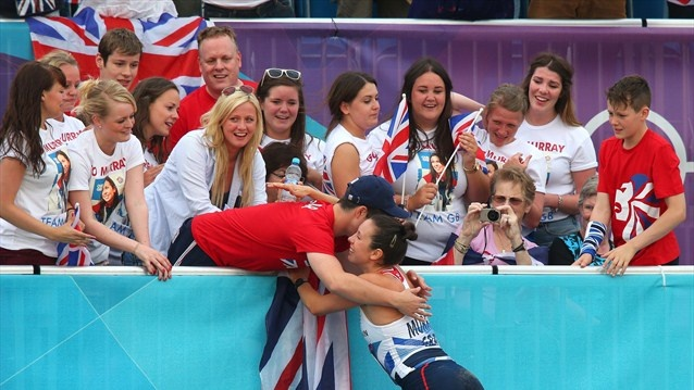 Samantha Murray of Great Britain is wins a Silver Medal, Britain's 65th and last medal in the London Olympics,