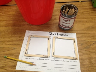 popsicle stick sight word centers (10 centers!)