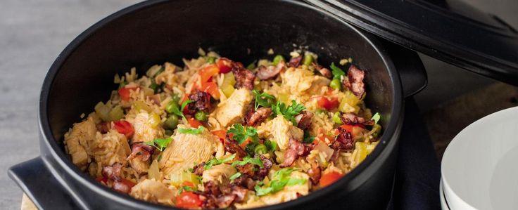 Cajunské kuře s rýží