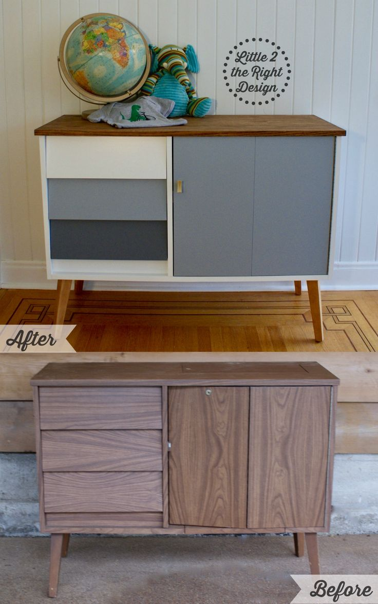 mid century modern furniture restoration. Before And After Of The Amazing Transformation A Mid Century Modern Sewing Cabinet! Features New Wood Top, Restored Legs. Furniture Restoration