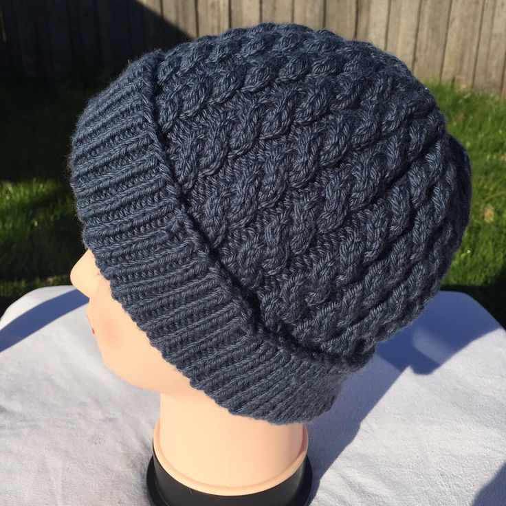 A personal favourite from my Etsy shop https://www.etsy.com/au/listing/290220155/hand-knitted-cable-hat-all-ages-made-to