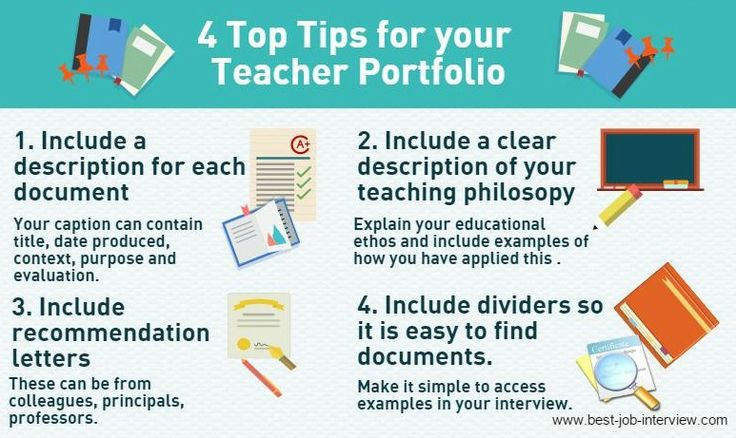 Top Tips for your Teacher Portfolio