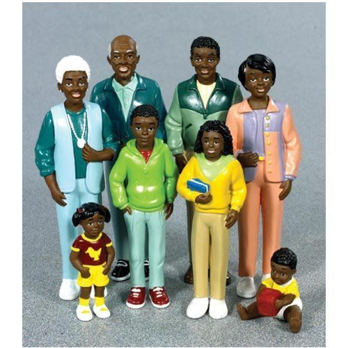 American Family Furniture Warehouse: African American Dollhouse People
