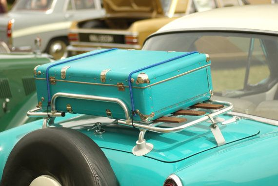 Turquoise  vintage classic car wall art home by SpottyDogImages, £16.75