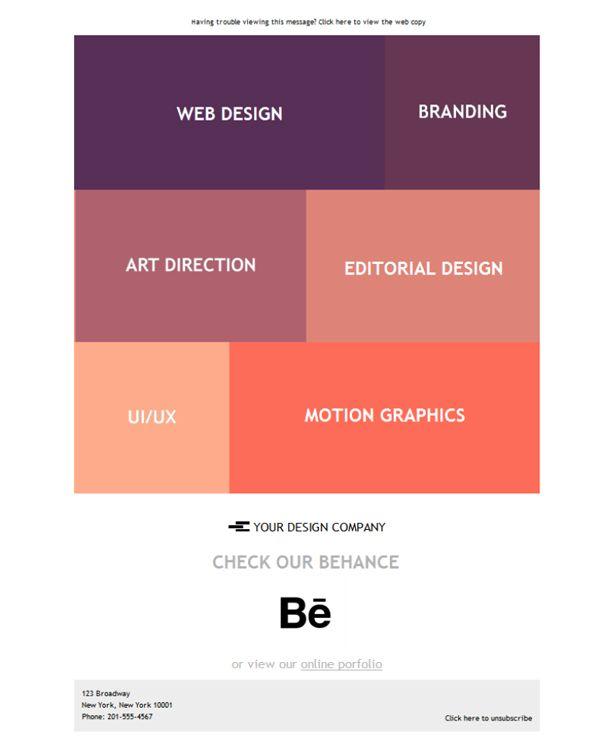 Si buscas una imagen sobria, elegante y efectiva de tu empresa de diseño gráfico... prueba gratis estas plantillas newsletter que hemos creado para ti.