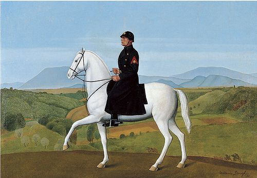 Donghi, Antonio (1897-1963) - 1937 Equestrian Portrait of the Duce (Private Collection)  #TuscanyAgriturismoGiratola