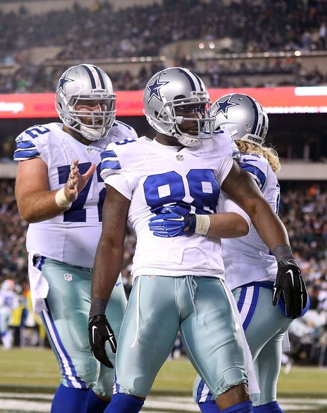 f0a0007ee Dez Bryant Photos - Dez Bryant #88 of the Dallas Cowboys is congratulated  by Travis Frederick #72 after scoring a touchdown against the Philadelphia  Eagles ...