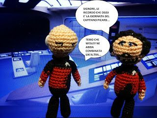 Riker e Picard - Star Trek TNG - amigurumi presentano: La giornata del Capitano