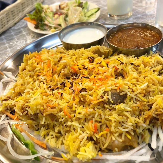 ビリヤニランチ 小岩のビリヤニハウスに初来店ビリヤニ好きネパール人のお店らしい カレーはチキンカレーを選んだがチキンビリヤニだったので被ってしまった #ビリヤニハウス #ビリヤニ #カレー #curry #小岩