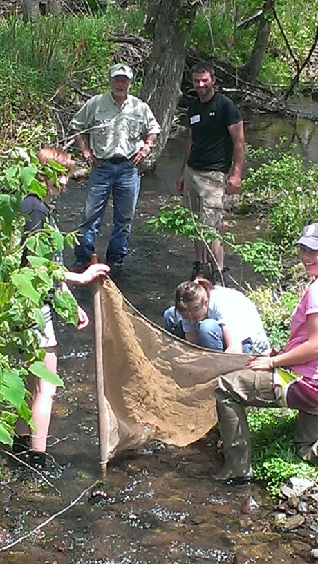 Collecting critters to prove the health of a Cameron County stream