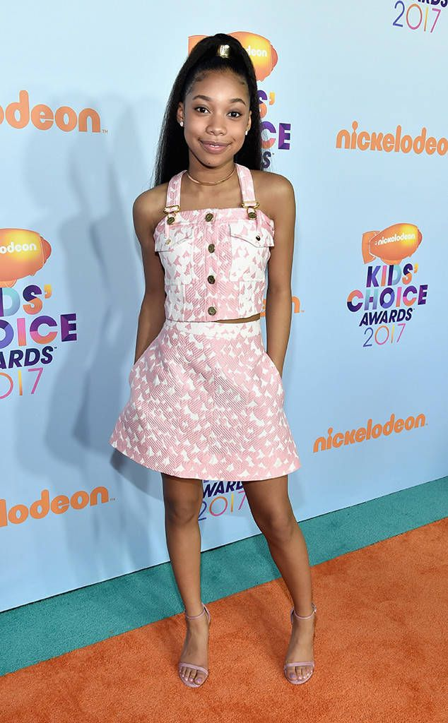 Kyla Drew Simmons from Kids' Choice Awards 2017: Red Carpet Arrivals  The 12-year-old actress is ready for spring in her light pink two-piece.