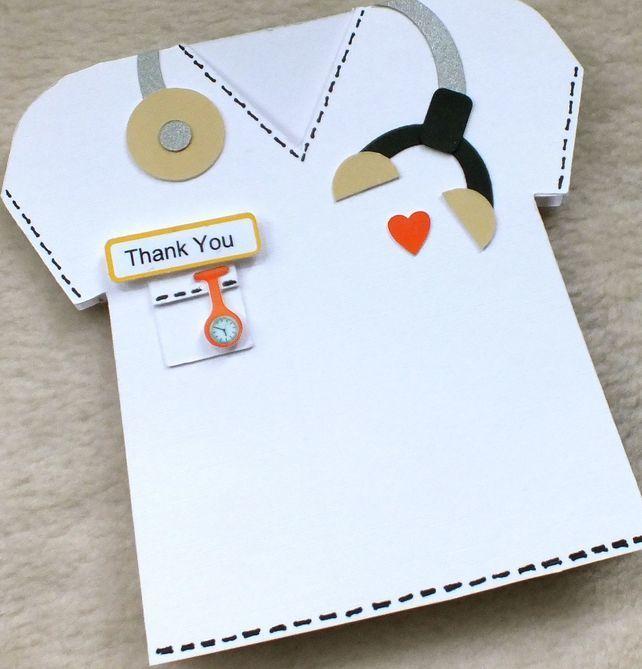 Special Doctor or Nurse Handmade Thank You Card £4.00