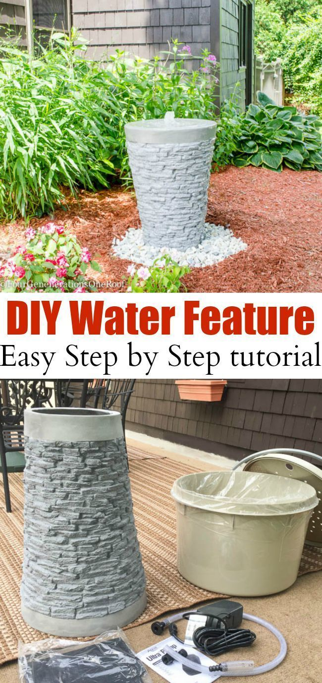 How To Install A Water Feature Our Garden Water Fountain